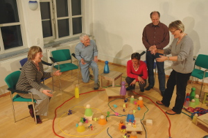 Workshop-Situation mit Peter Nemetschek